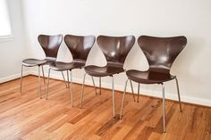 mid century chairs Arne Jacobsen for Fritz Hansen by littlecows