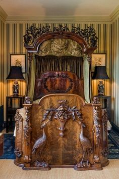 FuzzyDave's Cavalcade of Wonderosities — Heron Bed Ca1850 England. mahogany Half Tester...