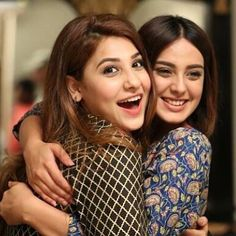 Hina Altaf and Iqra Aziz✨ Best Friend Hug, Best Friend Goals, Girls Best Friend, Hina Altaf, Iqra Aziz, Stylish Girl Pic, Pakistani Actress, Tv Actors