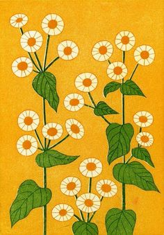 This page lists the works of tamae mizukami, an active Tokyo Illustrators Society (TIS) member. Motif Floral, Arte Floral, Illustration Blume, Pattern Illustration, Botanical Illustration, Retro Art, 60s Art, Vintage Art, Guache