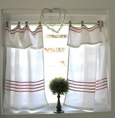 Flour sack towel curtains!