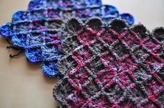 Wool Eater Granny squares - a modular pattern that almost makes me want to pick up a crochet hook again.