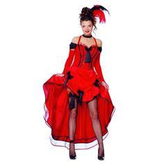 Déguisement French Cancan  Rouge Danseuse de Cabaret