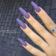 Awesome coffin nails are the hottest nails now. We collected 130 of the most popular coffin nails. So, you don't have to spend too much energy. It's easy to find your favorite coffin nail design. Perfect Nails, Gorgeous Nails, Pretty Nails, Violet Nails, Purple Nails, Burgendy Nails, Glitter Nails, Best Acrylic Nails, Acrylic Nail Designs