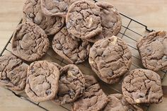 Triple Chocolate Cookies Triple Chocolate Cookies, Sweet Treats, Sugar, Desserts, Food, Tailgate Desserts, Sweets, Cheer Snacks, Candy