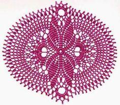 patrón de carpeta con diseño ovalado para tejer crochet