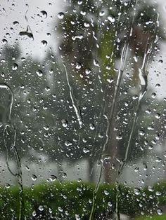 Love looking through a window on rainy days