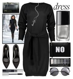"""""""Party On:Long Sleeve Dresses"""" by grozdana-v ❤ liked on Polyvore featuring MM6 Maison Margiela, Lagos, Melie Bianco, Chanel, Christian Dior, Wood Wood, Prada and longsleeve"""