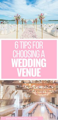 Choosing a wedding venue can be difficult and daunting - these are the 6 tips you need to know to make the best decision for your special day! #weddingvenue #weddingvenueinspiration #choosingaweddingvenue #weddingvenuehelp #weddingvenueinspo #weddingvenueideas #weddingplanning #weddingplanningtips #weddingtips Nontraditional Wedding Ceremony, Wedding Ceremony Flowers, Wedding Colors, Wedding Planning Tips, Wedding Tips, Fall Wedding, Rustic Wedding, Wedding Locations, Wedding Venues