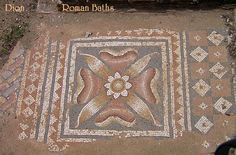 Floor of the Roman Baths at Dion, Greece