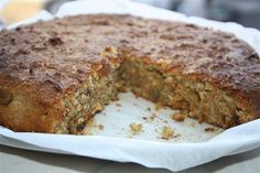 'Flourless Carrot, Pistachio and Coconut Cake' .I love all things coconut and I love pistachios so can't wait to try this one! Gluten Free Carrot Cake, Gluten Free Cakes, Gluten Free Desserts, Healthy Desserts, Just Desserts, Delicious Desserts, Paleo Sweets, Keto Snacks, Carrot Recipes