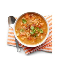 This savory soup's exotic mix of flavors will liven up any fall meal. Get the recipe  - WomansDay.com