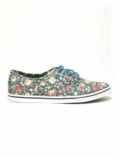 Vans Authentic Lo Pro Shoe in Floral Hydro @Vans Fashion Fashion #vans #surfride | www.surfride.com
