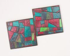 Coasters Handmade Mosaic Paper