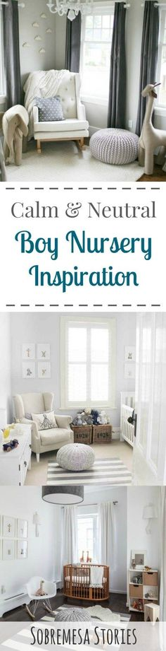 Neutral Boy Nursery Inspiration