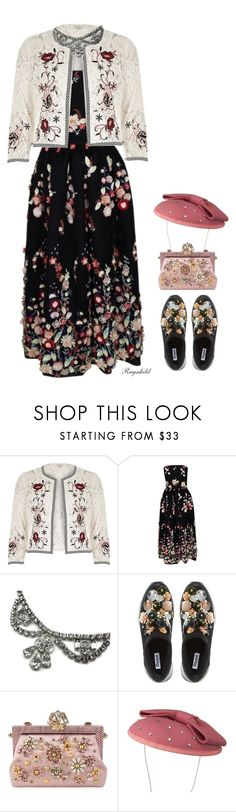 """Wear it in a Lace Dress (outfit only!) Top Set😀 April 3rd"" by ragnh-mjos ❤ liked on Polyvore featuring River Island, The 2nd Skin Co., Dune and Dolce&Gabbana"