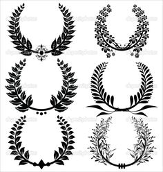 depositphotos_6037780-Laurel-wreaths-Set.jpg 972×1,023 pixels