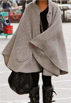 How to Chic: FASHION CAPE COAT