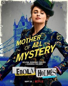 New Movie Posters for Enola Holmes Enola Holmes, Helena Bonham Carter, Popular Movies, Netflix, Mystery, Sherlock, Tv Shows, Harry Potter, Comics