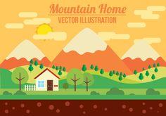 Free Mountain Vector Illustration