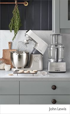 Take the hard work out of Christmas baking with our range of food processors, mixers and blenders. From KitchenAid to Kenwood, create festive treats with ease.