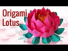 How to Make Amazing Origami Lotus | DIY Paper Crafts | Paper Flowers