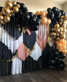 Birthday Balloon Decorations, Graduation Decorations, Birthday Balloons, Birthday Party Decorations, Birthday Backdrop, Halloween Decorations, Streamer Backdrop, Streamers, Paper Backdrop