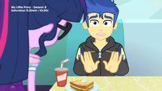 #1689548 - equestria girls, flash sentry, pinkie pie, pinkie pie snack psychic, safe, sci-twi, screencap, spoiler:eqg specials, twilight sparkle - Derpibooru - My Little Pony: Friendship is Magic Imageboard