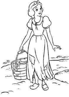 Disney Snow White Coloring Page. Blanche Neige à colorier