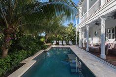 tropical landscape design, swimming pool, landscape design, Key West, water feature, Key West