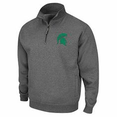 Men's Michigan State Spartans College Quarter Zip Pullover Sweatshirt