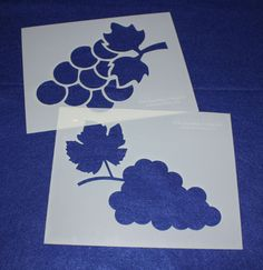 Large Grapes 2 Piece Stencil Set 14 Mil X Painting /Crafts/ Templates Quilting Classes, Quilting Blogs, Quilting Board, Quilting Designs, Quilting Frames, Quilting Stencils, Quilting Rulers, Stencil Painting, Stenciling