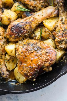 BAKED GARLIC PARMESAN CHICKEN & POTATOES