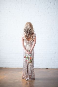 Shinning Backless Sequined Long Party Bridesmaid Dress - MeetYoursFashion - 8
