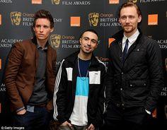 Shortlist: (L-R) Eddie Redmayne, Adam Deacon and Tom Hiddleston were in London today for the announcement