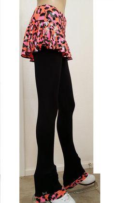 VC Ice Figure Skating Dress Pants LEGGINGS VCSP04 cozysoft Adult Medium leopard #VictoriasChallenge #PantsTightsLeggings