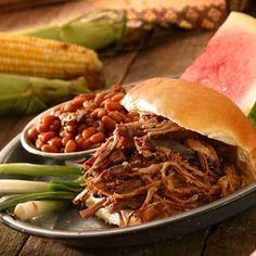 Crockpot BBQ Beef Sandwich Recipe - 7 Point Value - LaaLoosh