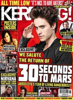 30 Seconds to Mars in new Kerrang! Thirty Seconds, 30 Seconds, All Time Low, All About Time, Mitch Lucker, Im Mad, Tonight Alive, Shannon Leto, Music Magazines
