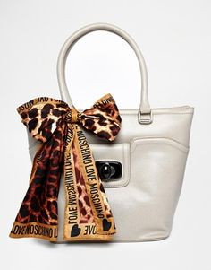 Love Moschino Handheld Bag With Scarf