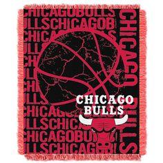 Chicago Bulls NBA Triple Woven Jacquard Throw (Double Play Series) (48x60)