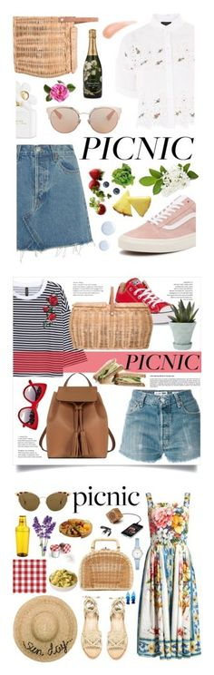 """""""Winners for Picnic in the Park"""" by polyvore ❤ liked on Polyvore featuring Topshop, RE/DONE, Vans, Bloomingville, Perrier-JouÃ«t, Marc Jacobs, Christian Dior, Le Parmentier, Converse and Dolce&Gabbana"""