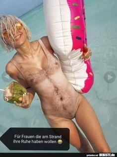 Für Frauen die am Strand ihre Ruhe haben wollen.. | Lustige Bilder, Sprüche, Witze, echt lustig