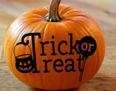 Check out Trick or Treat Vinyl Graphics for Pumpkins - No Mess Pumpkin Decals on amberrockstar