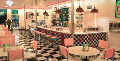 Parlour Design, Cowgirl Bachelorette, Retro Diner, Cute Cafe, Coffee Ice Cream, Ice Cream Parlor, Brick And Mortar, Cafe Interior, Frozen Desserts