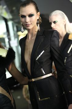 Backstage at Atelier Versace Spring Couture 2013