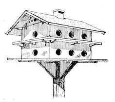 19 Birdhouse Plans: Bluebird Boxes, Multi-Level Martin Homes and MORE!  