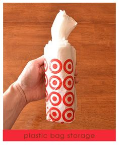 How to roll plastic bags so they come out like wipes! Then place in embellished container.