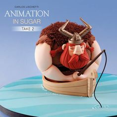 Find out how to make Carlos Lischetti's Gentle Giant Viking-themed cake in Animation in Sugar: Take 2