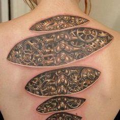Bio-mechanical tattoos