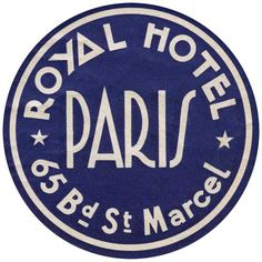 Royal Hotel _____________________________ Paris ~ France